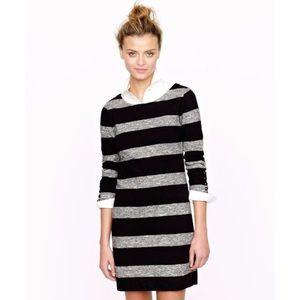 [J. Crew] Maritime Dress Heathered Stripe